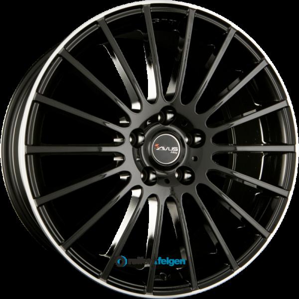 AVUS Racing AC-M03 8x18 ET45 5x112 NB66.6 Black Polish Lip