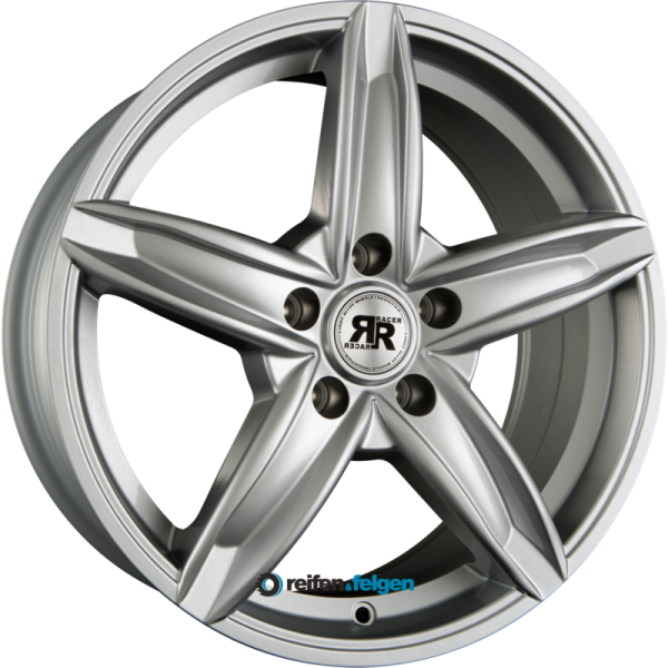 RACER WHEELS BORDER 6.5x15 ET35 5x112 NB66.6 Silver
