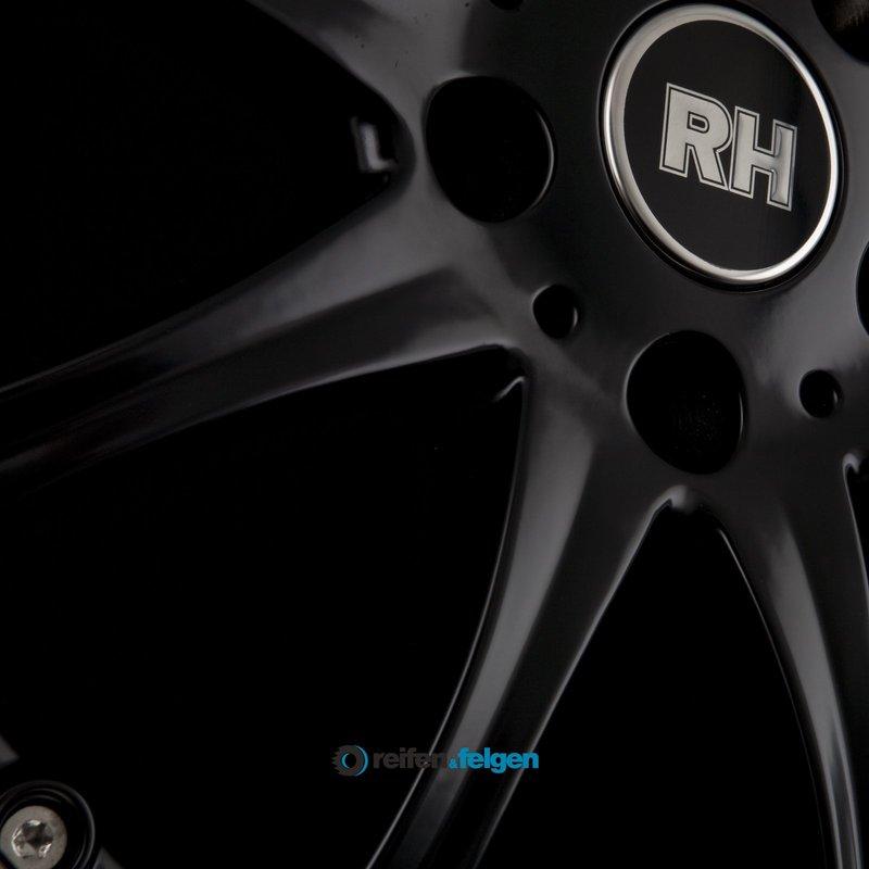 RH ALURAD RAK PHÖNIX 11x20 ET48 5x130 NB71.5 Schwarz mit Edelstahlhorn_4