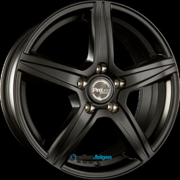 ProLine Wheels CX200 6.5x15 ET38 5x105 NB56.6 Black Matt_1