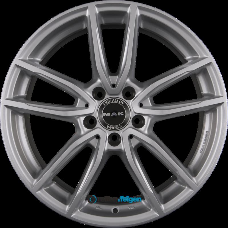 MAK EVO 9x18 ET33 5x112 NB66.6 Silver