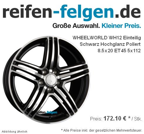 WHEELWORLD-WH12-Einteilig-Schwarz-Hochglanz-Poliert-SP-plus-8-5x20-ET45-5x112