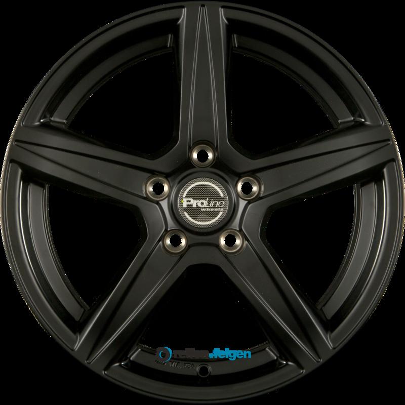 ProLine Wheels CX200 6.5x15 ET38 5x105 NB56.6 Black Matt_0