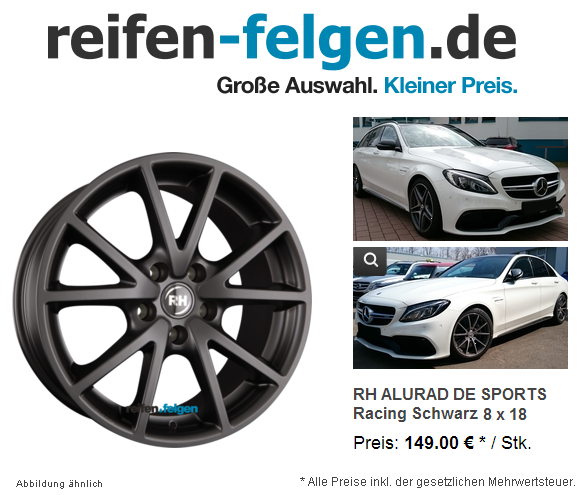 RH-ALURAD-DE-SPORTS-Racing-Schwarz-Einteilig
